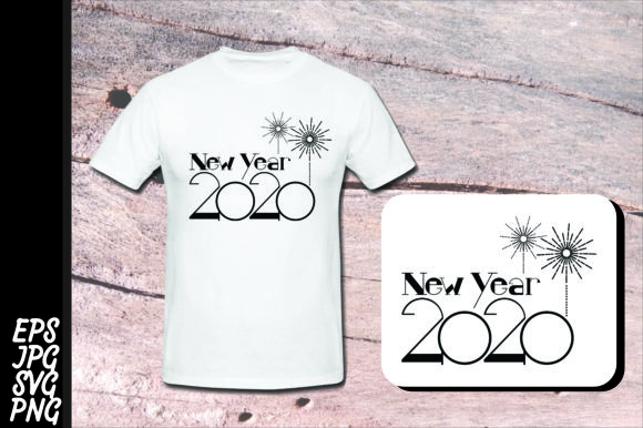 Print on Demand: New Year 2020 SVG Black Graphic Crafts By Arief Sapta Adjie - Image 1
