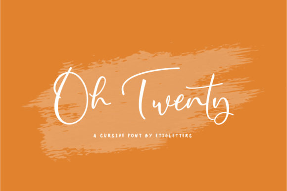 Print on Demand: Oh Twenty Script & Handwritten Font By etigletters - Image 1