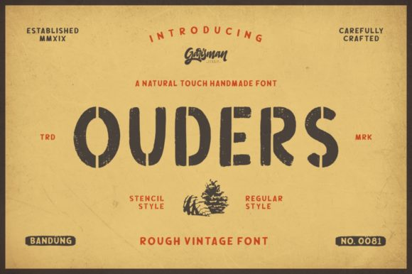 Print on Demand: Ouders Display Font By Garisman Studio