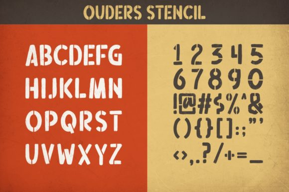 Print on Demand: Ouders Display Font By Garisman Studio - Image 10