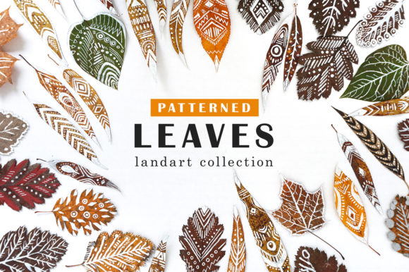 Print on Demand: Patterned Leaves - Landart Collection Graphic Patterns By struvictory - Image 1