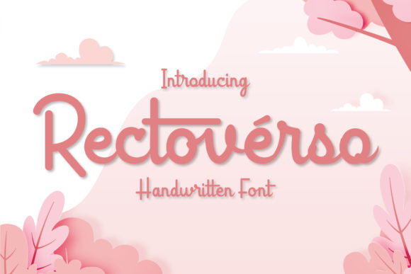 Print on Demand: Rectoverso Script Script & Handwritten Font By Almeera Studio