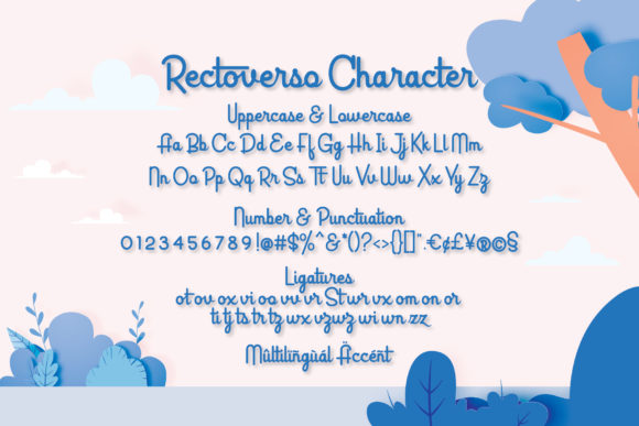 Print on Demand: Rectoverso Script Script & Handwritten Font By Almeera Studio - Image 5