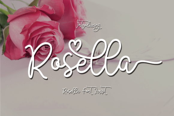 Print on Demand: Rosella Script Script & Handwritten Font By Razi_studio