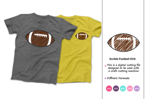 Print on Demand: Scribble Football Football Graphic Crafts By iprintasty