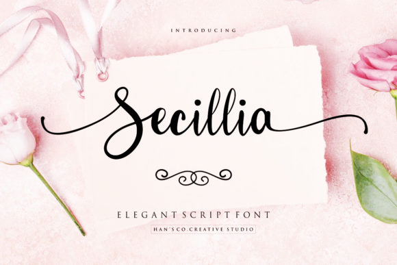 Print on Demand: Secillia Script & Handwritten Font By HansCo