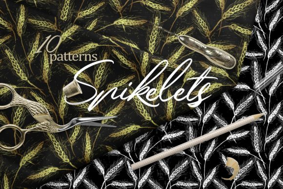 Spikelets Pattern Collection Graphic Patterns By MarynArts