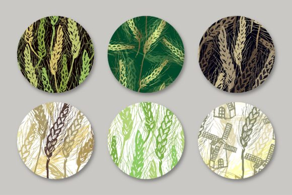 Spikelets Pattern Collection Graphic Patterns By MarynArts - Image 3