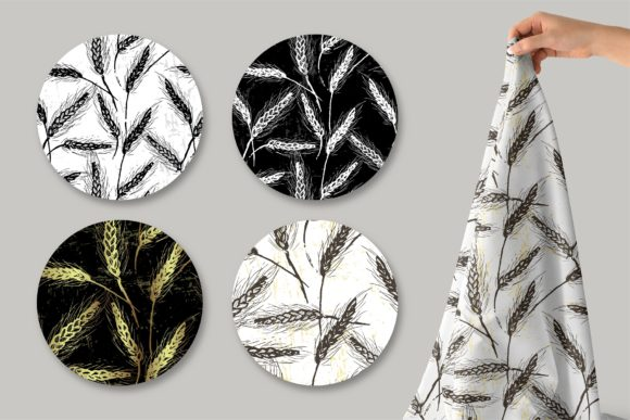 Spikelets Pattern Collection Graphic Patterns By MarynArts - Image 4