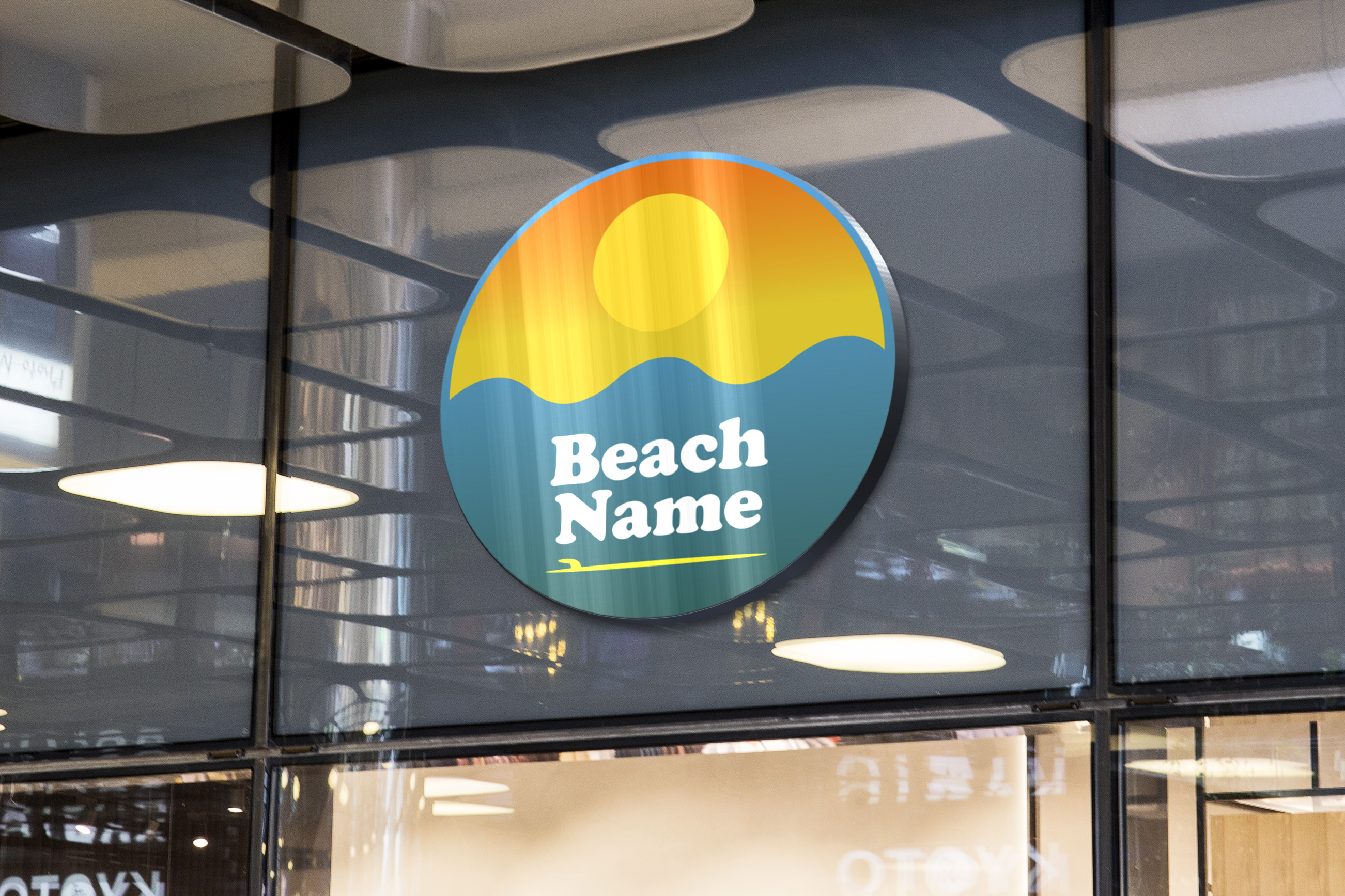Download Free Sunset Beach Logo Graphic By Titiwancistudio Creative Fabrica for Cricut Explore, Silhouette and other cutting machines.