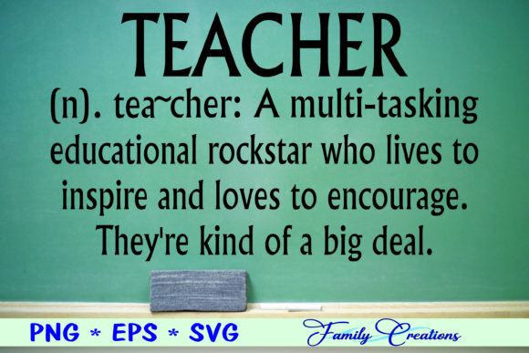 Download Free Teacher Graphic By Family Creations Creative Fabrica for Cricut Explore, Silhouette and other cutting machines.