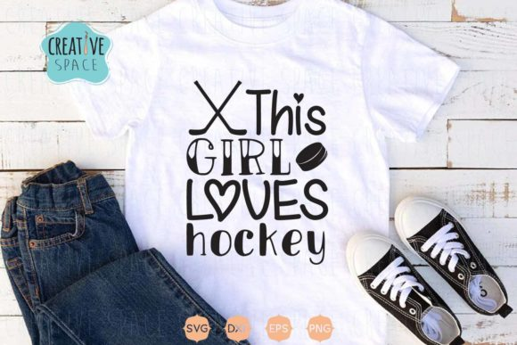 This Girl Loves Hockey Graphic Crafts By creativespace