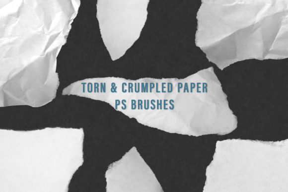 Print on Demand: Torn and Crumpled Paper Brushes Graphic Brushes By OA Design - Image 1