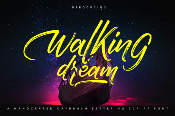 Print on Demand: Walking Dream Script & Handwritten Font By Vunira