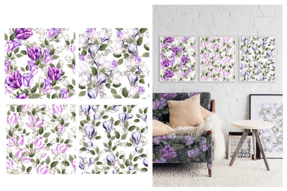 Watercolor Spring Tulips & Crocus Graphic Objects By Knopazyzy - Image 2