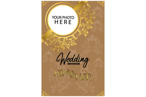 Download Free Wedding Invitation Template Graphic By Curutdesign Creative for Cricut Explore, Silhouette and other cutting machines.