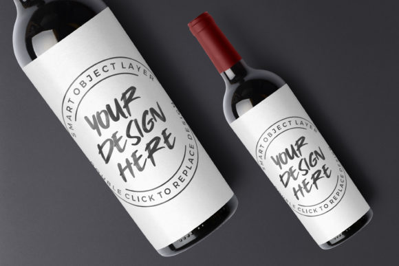 Wine Bottle Mockup Template Graphic Product Mockups By suedanstock