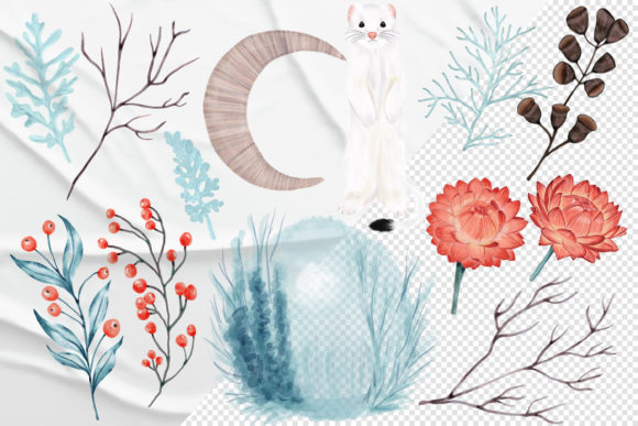 Print on Demand: Winter Nature Pack Patterns Compositions Graphic Patterns By PawStudio - Image 10