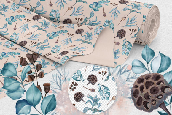 Print on Demand: Winter Nature Pack Patterns Compositions Graphic Patterns By PawStudio - Image 3