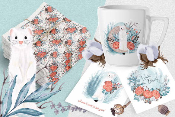 Print on Demand: Winter Nature Pack Patterns Compositions Graphic Patterns By PawStudio - Image 7