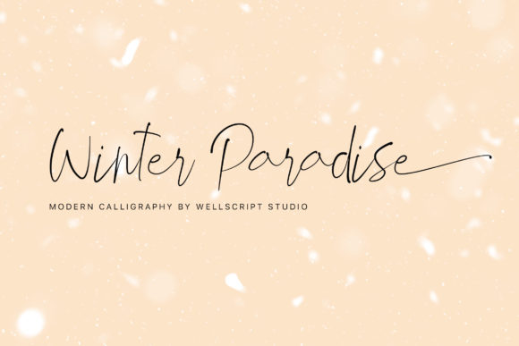 Print on Demand: Winter Paradise Script & Handwritten Font By wellscriptstudio
