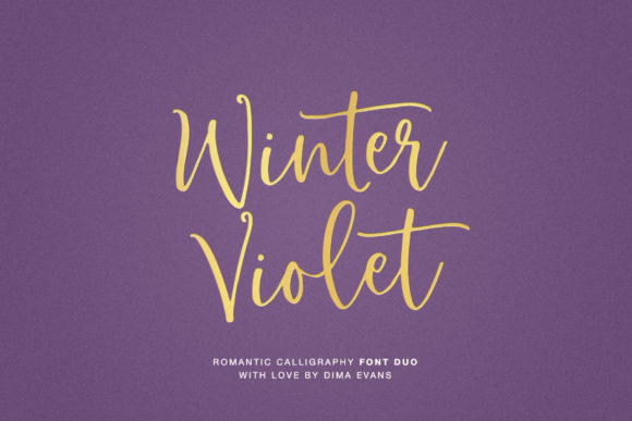 Print on Demand: Winter Violet Script & Handwritten Font By Dmitrii Chirkov