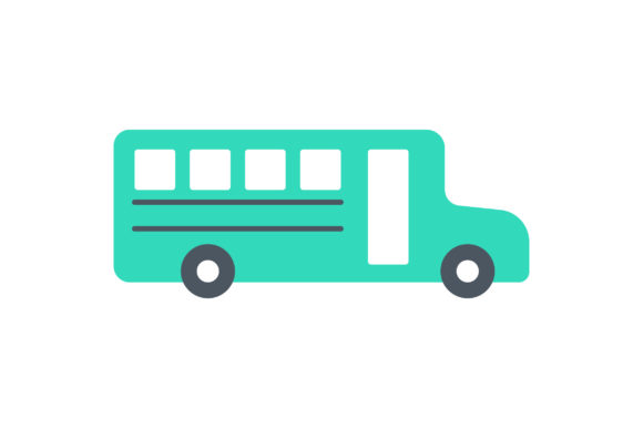 Download Free Bus Flat Icon Vector Graphic By Riduwan Molla Creative Fabrica for Cricut Explore, Silhouette and other cutting machines.