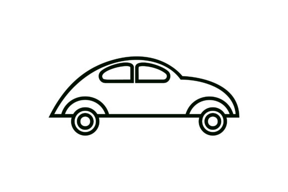 Download Free Car Line Art Icon Vector Graphic By Riduwan Molla Creative Fabrica for Cricut Explore, Silhouette and other cutting machines.