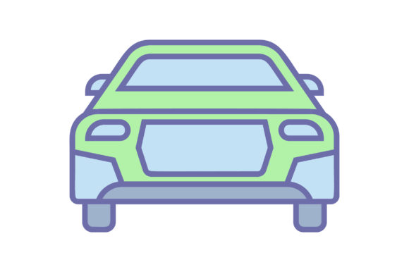 Download Free Car Liner Fill Icon Vector Graphic By Riduwan Molla Creative for Cricut Explore, Silhouette and other cutting machines.