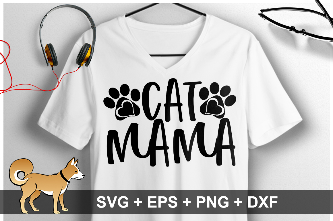 Download Free Cat Mama Svg Graphic By Orindesign Creative Fabrica for Cricut Explore, Silhouette and other cutting machines.