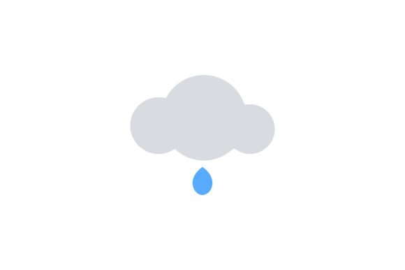 Download Free Cloud With Rain Drop Flat Vector Icon Graphic By Riduwan Molla Creative Fabrica for Cricut Explore, Silhouette and other cutting machines.