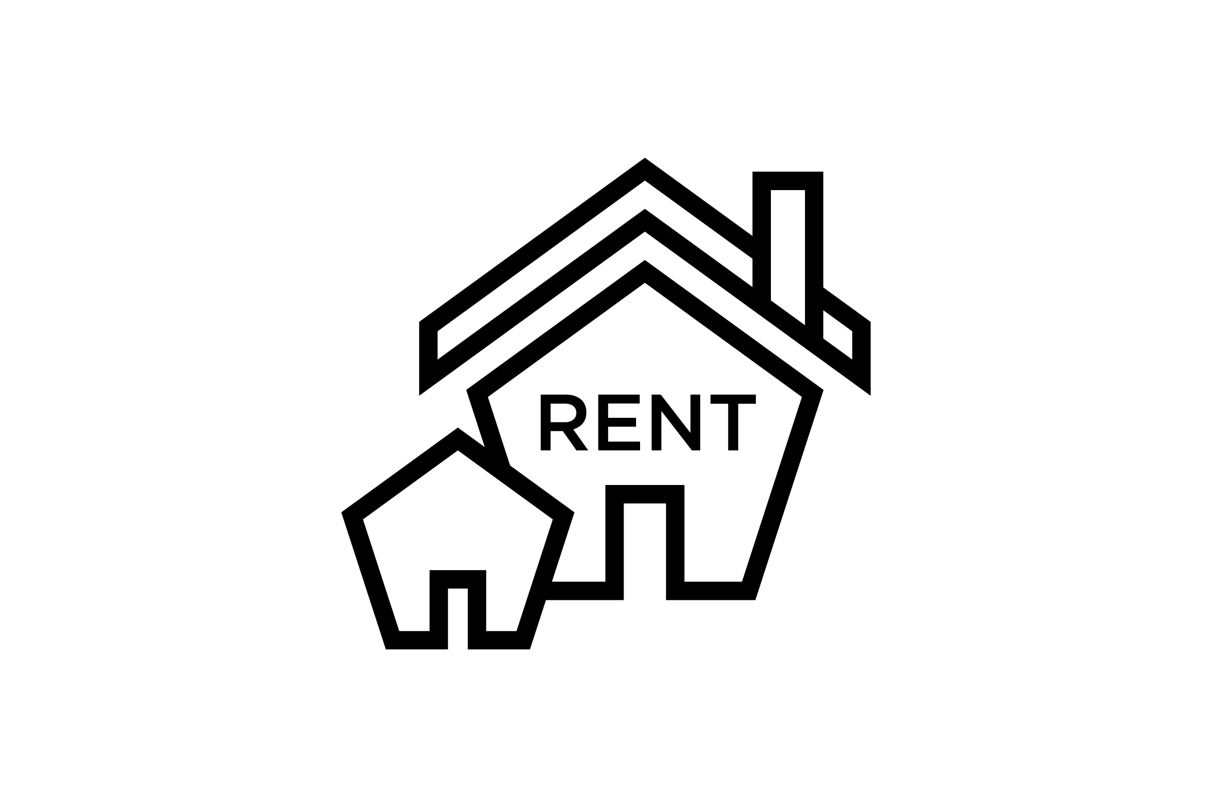 Download Free House For Rent Line Art Icon Graphic By Riduwan Molla Creative for Cricut Explore, Silhouette and other cutting machines.