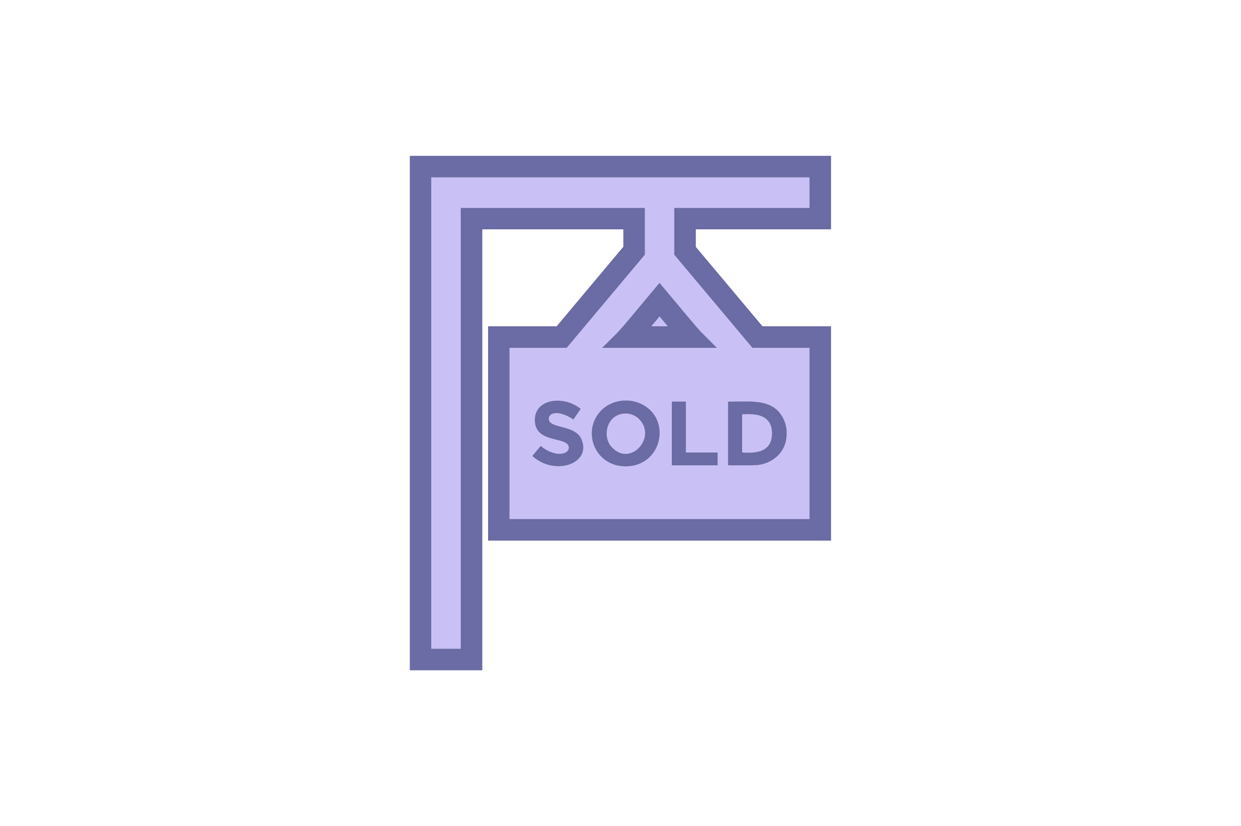 Real Estate Sold Banner Liner Fill Icon Graphic By Riduwan Molla Creative Fabrica