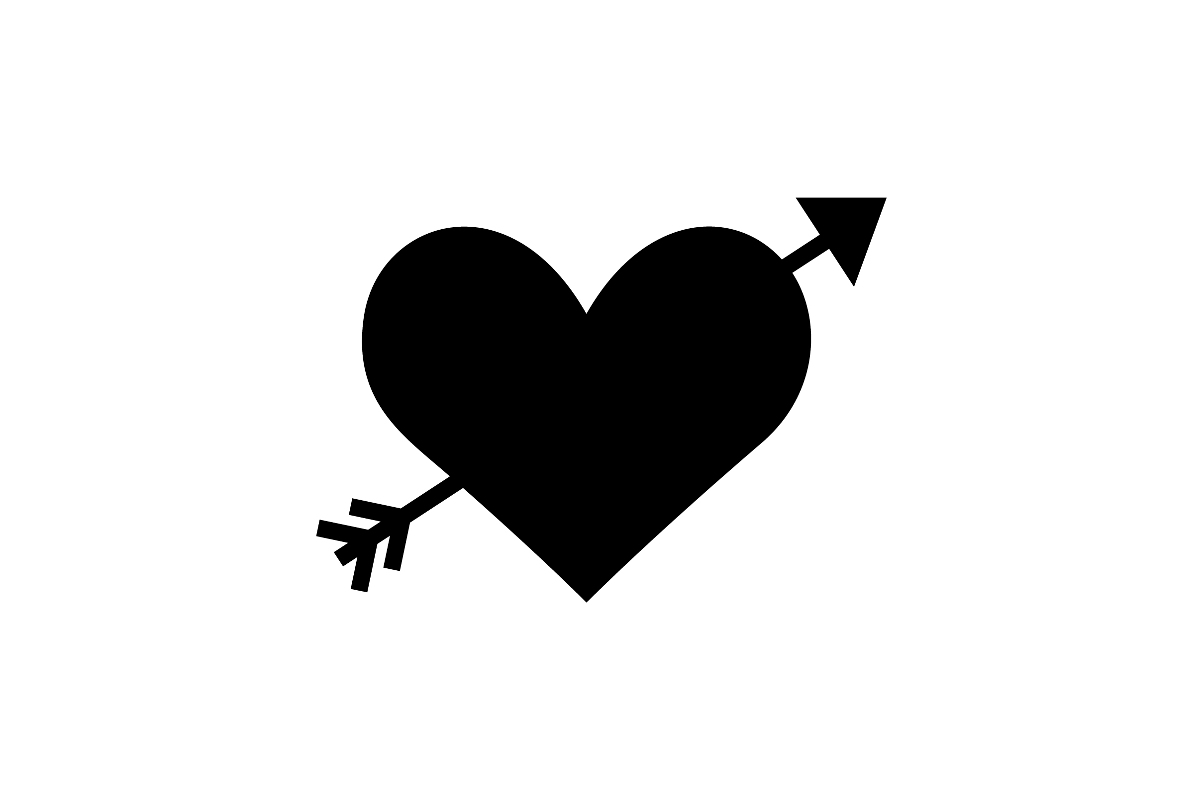 Download Free Valentine Heart With Arrow Glyph Icon Graphic By Riduwan Molla for Cricut Explore, Silhouette and other cutting machines.