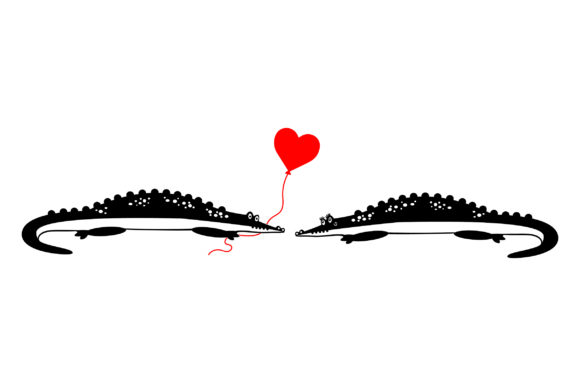Lover Alligators Valentine's Day Craft Cut File By Creative Fabrica Crafts