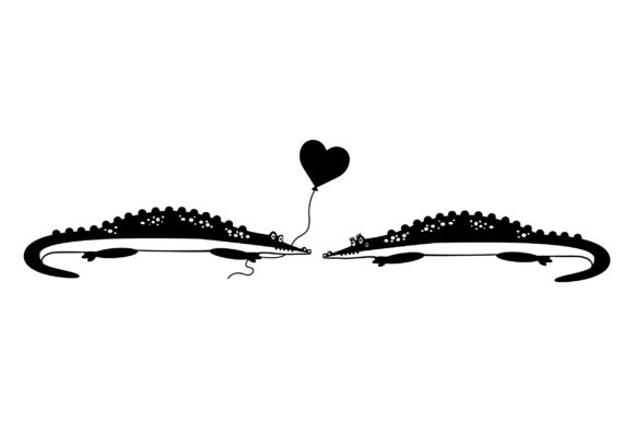 Lover Alligators Valentine's Day Craft Cut File By Creative Fabrica Crafts - Image 2