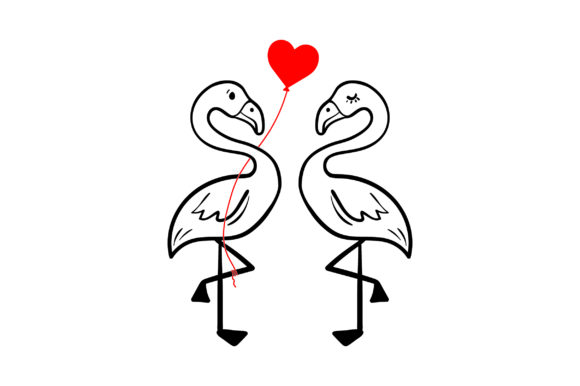 Lover Flamingos Valentine's Day Craft Cut File By Creative Fabrica Crafts