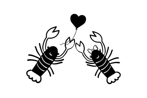 Lover Lobsters Valentine's Day Craft Cut File By Creative Fabrica Crafts - Image 2