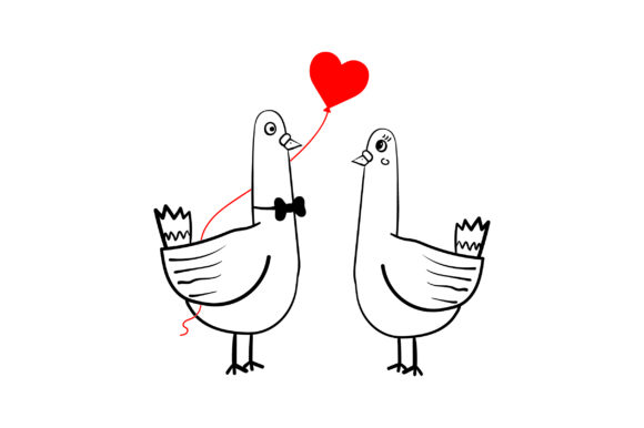 Lover Pigeons Valentine's Day Craft Cut File By Creative Fabrica Crafts - Image 2