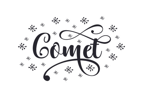 Comet Christmas Archivo de Corte Craft Por Creative Fabrica Crafts