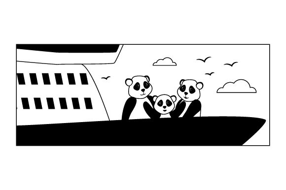 Download Free Panda Family On A Cruise Svg Cut File By Creative Fabrica Crafts for Cricut Explore, Silhouette and other cutting machines.