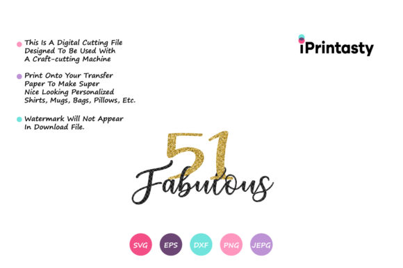 Download Free 51 Fabulous Graphic By Iprintasty Creative Fabrica for Cricut Explore, Silhouette and other cutting machines.