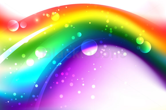 Background with Abstract Rainbow Graphic Backgrounds By Blackmoon9
