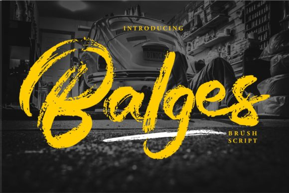 Print on Demand: Balges Script & Handwritten Font By Vunira