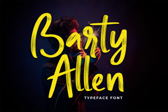 Print on Demand: Barty Allen Script & Handwritten Font By lyanatha