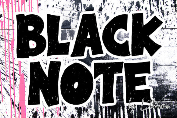 Print on Demand: Black Note Display Font By thomasaradea