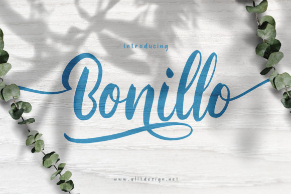 Print on Demand: Bonillo Script & Handwritten Font By Alit Design