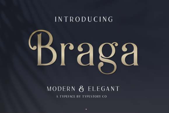 Print on Demand: Braga Serif Font By Typestory