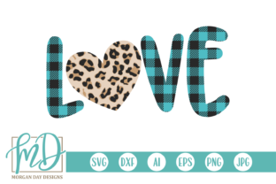 Download Free Buffalo Plaid Love Graphic By Morgan Day Designs Creative Fabrica for Cricut Explore, Silhouette and other cutting machines.