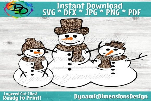 Print on Demand: Chillin with My Snowmies Graphic Crafts By dynamicdimensions